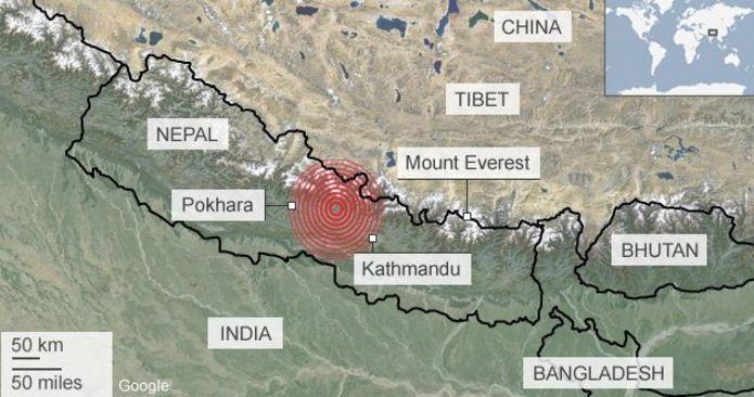 nepalの地図